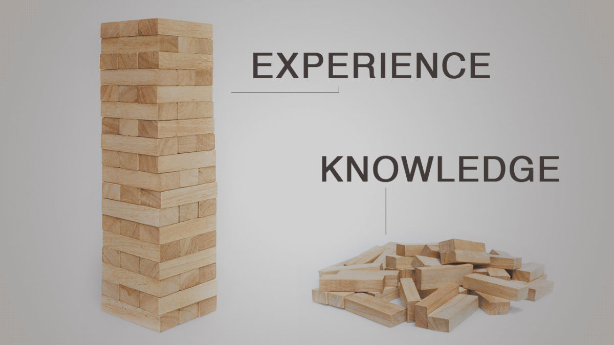 The difference between experience and knowledge: https://t.co/E7w8OOt2S4