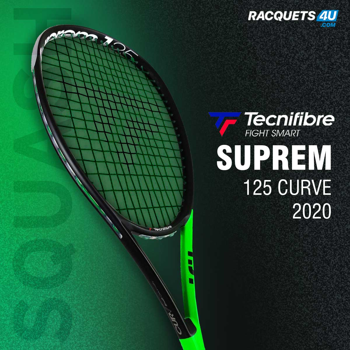 Unleash the supreme. Take a closer look at TECNIFIBER  Supreme 125 curve 2020. It comes with 470cm2 head size designed to provide excellent control.  Get it here -   #Racquets4U  #TECNIFIBRE  #Squash  #Racquet    #thursdaymorning #thursdayvibes