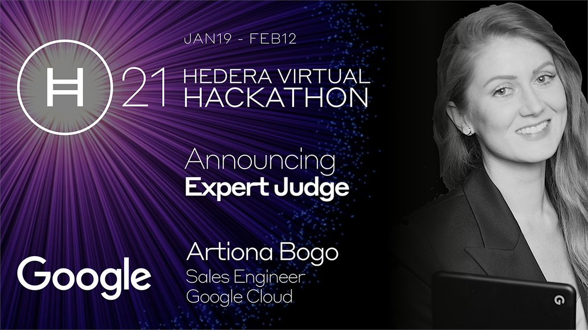 Enter the #Hedera21 Virtual Hackathon & have your app reviewed by @art_iona, who is a Sales Engineer at @googlecloud & has experience with several #blockchain technologies including @Cordablockchain, @Hyperledger Fabric, @CoinSciences, & @ConsenSysQuorum: hedera21.devpost.com