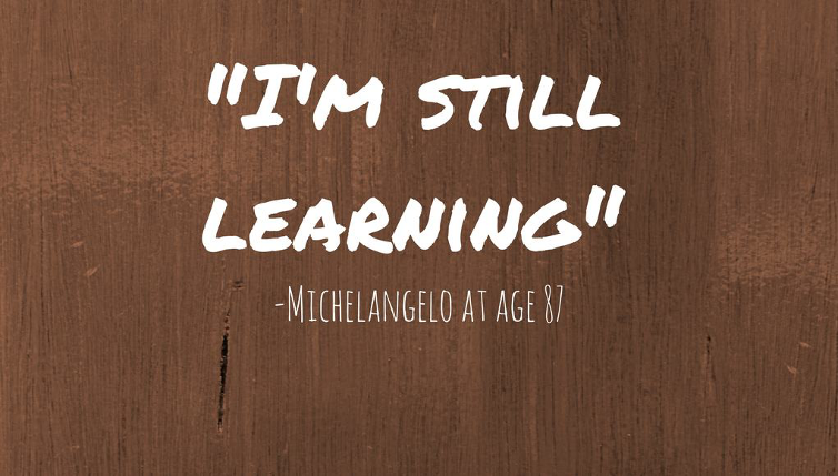 It's never too late to pick up anything and at any age, be it studying, taking up Spanish language classes or even singing. Learning should be lifelong and uninhibited.   #LifeLongLearning #MondayMusings