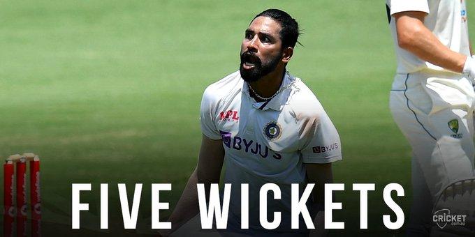 India dismisses Australia for 294, needs 328 to win 4th test Photo