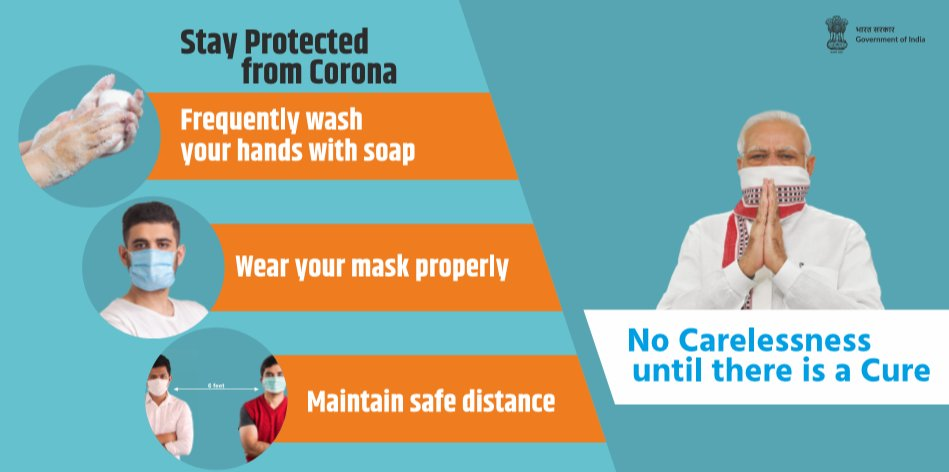 #COVID19   Remember, to #staysafe from #coronavirus, make sure to always:     ✅ Wear your #mask properly 😷 ✅ Frequently wash your hands with soap 👐 ✅ Maintain safe distance ↔️   #Unite2FightCorona