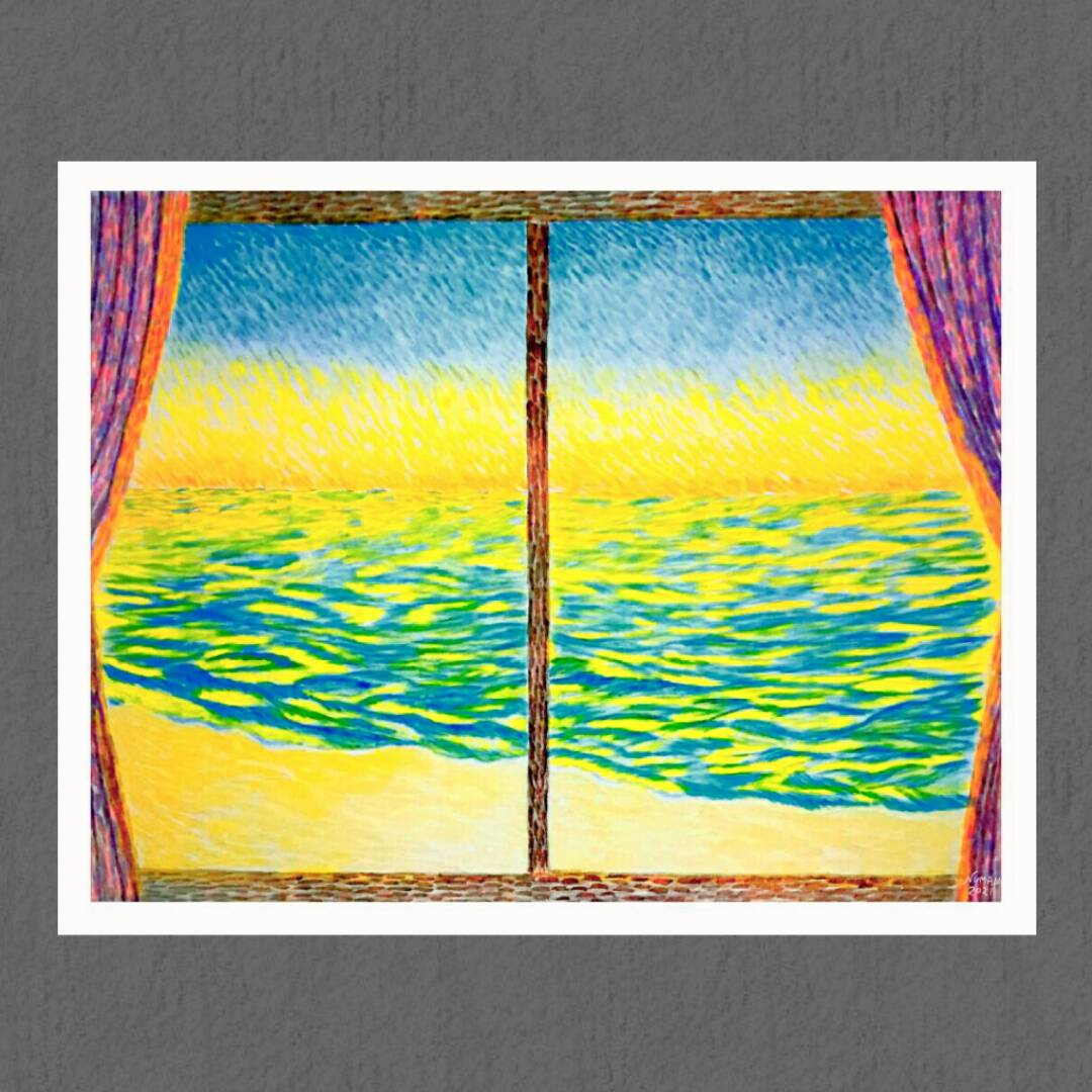 Paintings have a life of their own that derives from the painter's soul. - Vincent Van Gogh #painting #sea #sunsets #watercolor #ArtistOnTwitter #vangogh #window