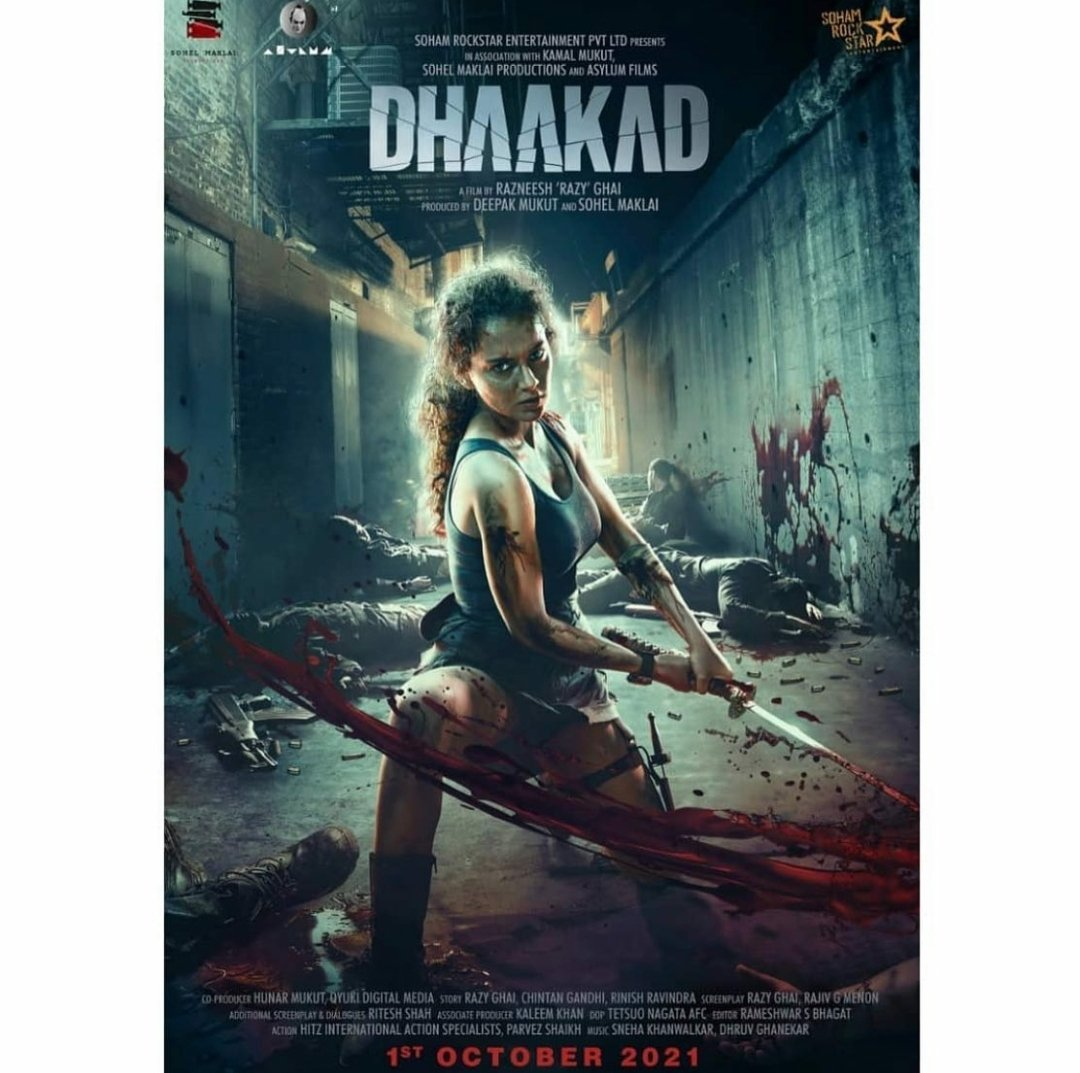 The release date for the #KanganaRanaut starrer #Dhaakad is out! Catch the action at the big screen on October 1st, 2021! #Cinepolis #CinepolisIndia