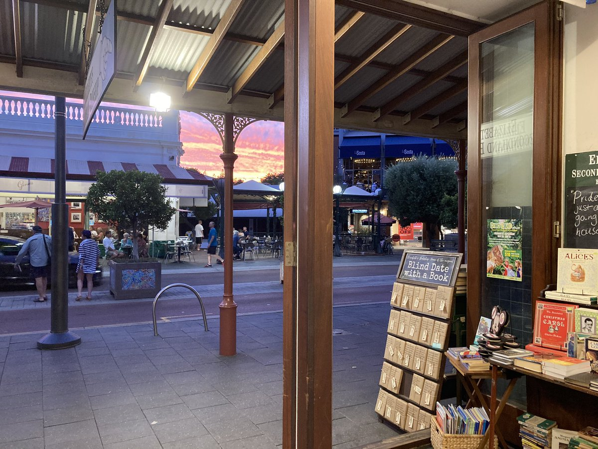 #Sunset from a second-hand bookshop in #Fremantle