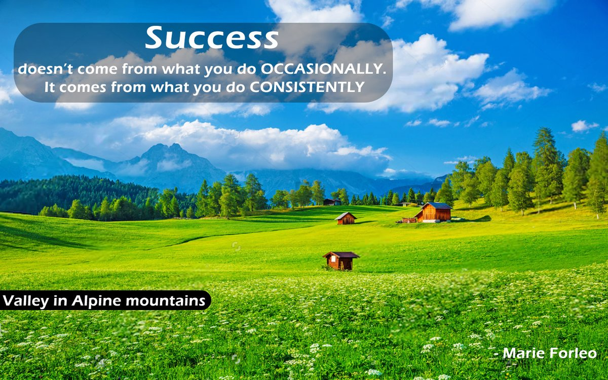 Success  doesn't come from what you do OCCASIONALLY.  It comes from what you do CONSISTENTLY - Marie Forleo  #MondayThoughts  #MondayVibe #Motivationalquotes #MotivationalThoughts #Inspirationalquotes #successquotes #InspirationalThoughts #MotivationalMonday #naturalsceneries