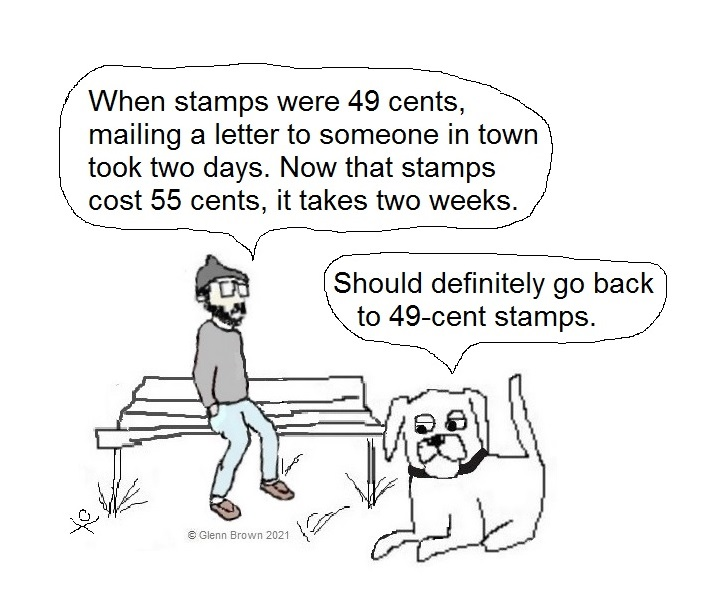 #toon #cartoon #dogs #dogsoftwitter #USPS #postoffice #stamps