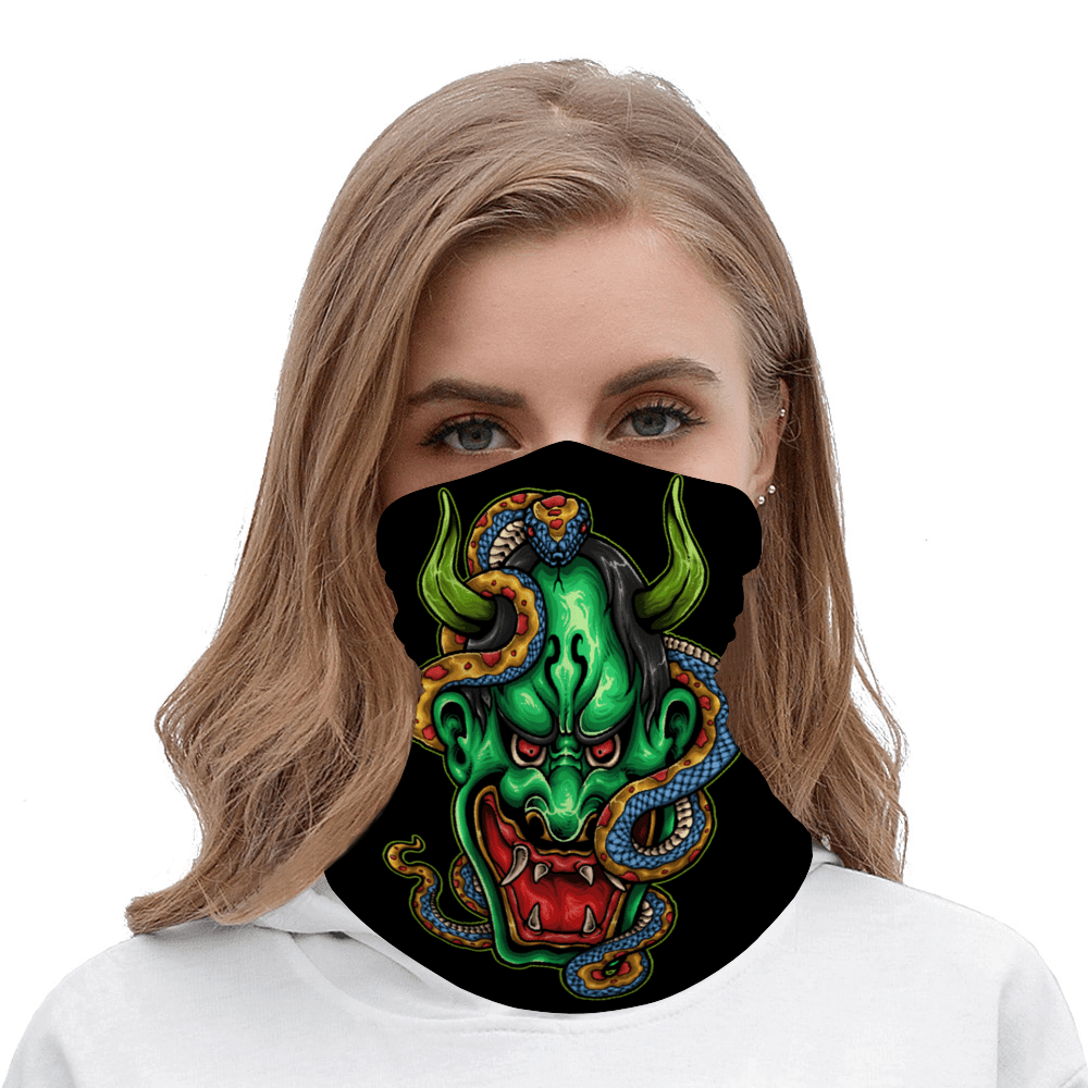 Ghost Snake Multifunctional Bandana Scarf CreativeBikers - Motion in Pleasure. Get your gear @  #helmet #Motorcycle #ducati #bikelife #moto #motosport #motocross #superbike #yamaha #kawasaki #suzuki #harleydavidson #bikergirl #girlsbiker