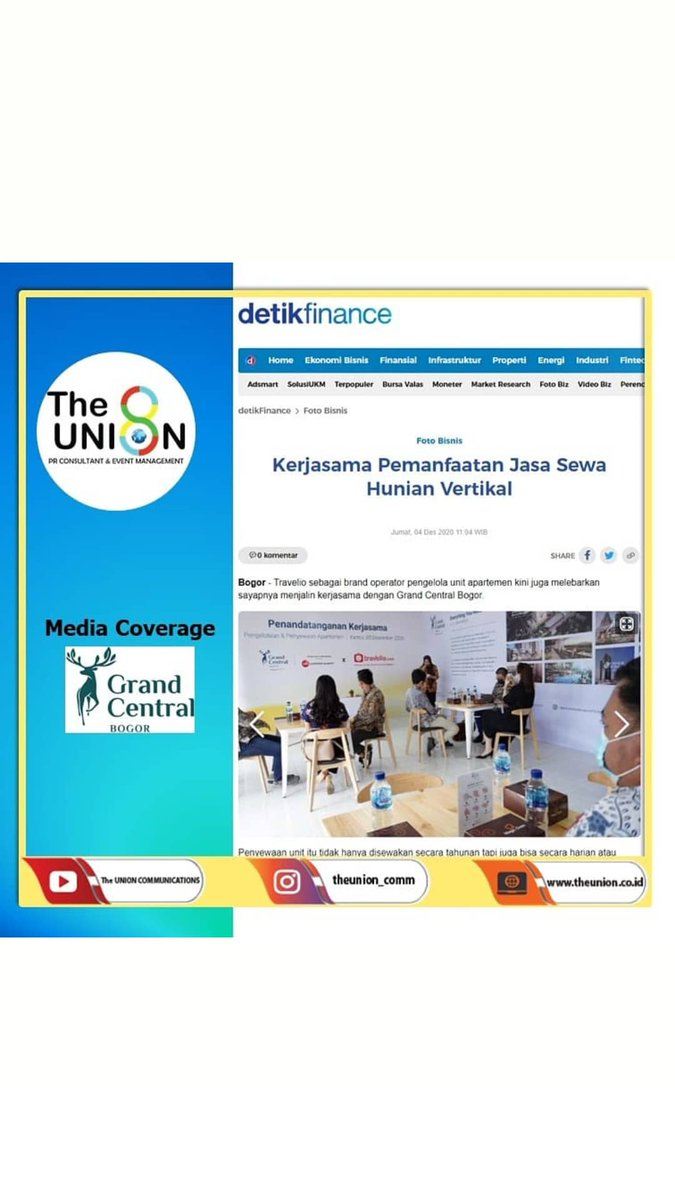 Business Inquiry IG (Credentials Projects) : @theunioncomm  Email : marketing@theunion.co.id Website :   #mediacoverage  #publicrelations  #mediarelations  #theunioncomm  #prconsultantjakarta  #theunionpr  #prconsultantindonesia