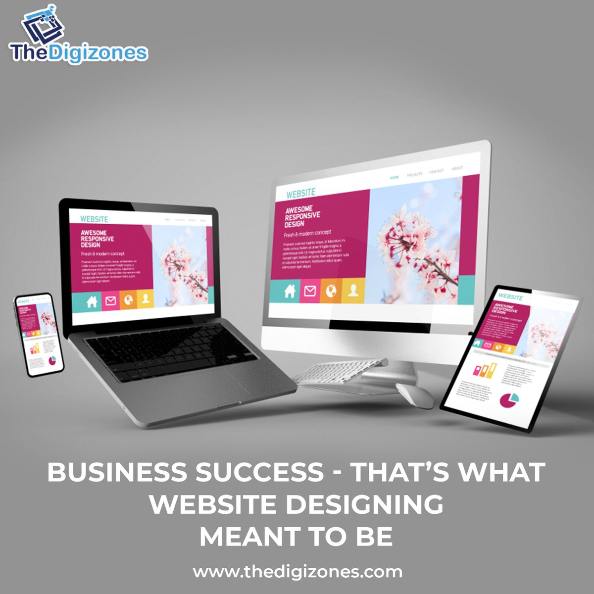 Business Success - That's What Website Designing Meant to Be  Website:-  Email- contact@thedigizones.com Phone no.- +1 8084002436 #website #brand #thedigizones #bestcompany #digitalmarketingagency #ppc #payperclick #contentcreator #emailmarketing #social