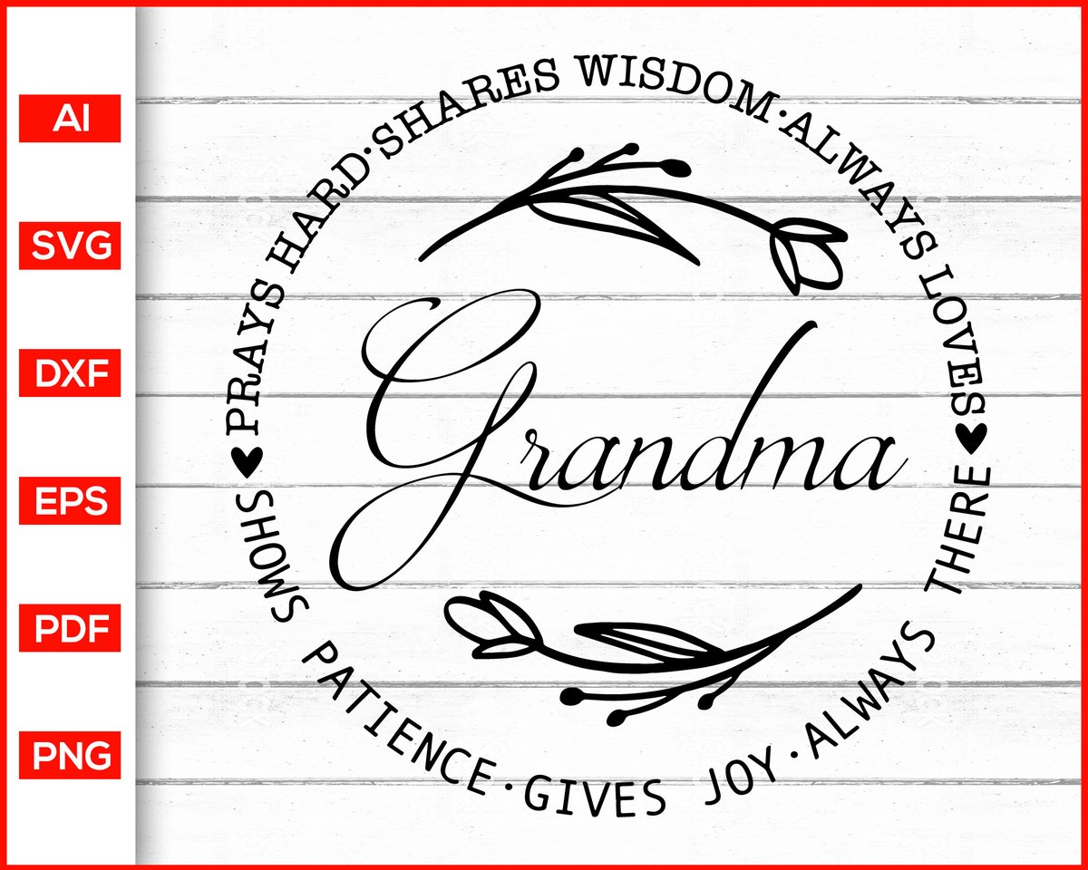 Grandma Svg Mother's Day Svg Mom Grandmother Svg   #mom #mother #grandmother #grandma