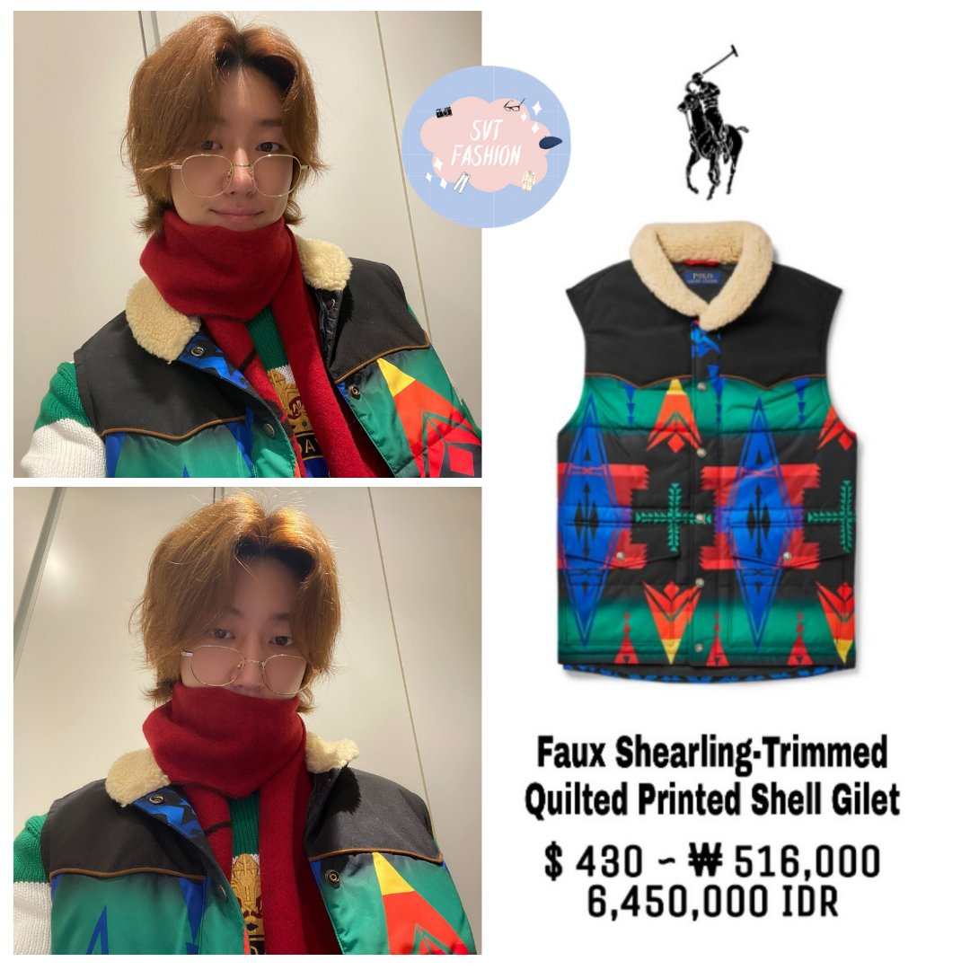 The8 style in Seventeen Twitter Update (210118)  1. Polo Ralph Lauren Gilet 2. Polo Ralph Lauren Sweater  #17The8_Fashion #Fashion #Seventeen #세븐틴 #The8 #디에잇 #ディエイト @pledis_17 @pledis_17jp