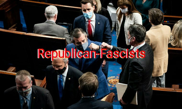 @RepSenators @CNN #MSNBC  @ABC @FoxNews @tedcruz @HawleyMO #fascists #republicanfascism #insurrectionist #treason #prosecute #AntiAmerican #Dictatorship #Hitler #Moussolini #WWII  #proudfather #familyman #protectmychildren #mother