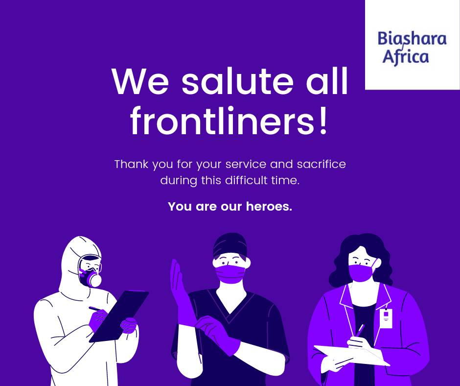 As we start the week, we salute our heroes, the frontliners 👏👏👏  #Keepsafe #WearAMask #WashYourHands #SocialDistance #Keepgoing