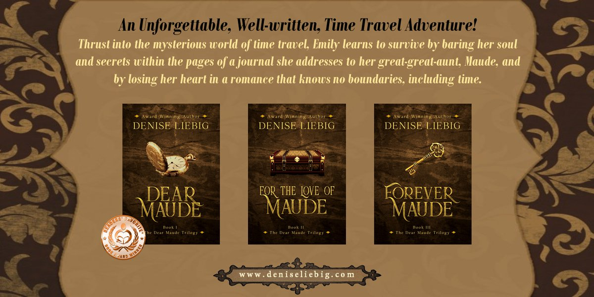 Heartbroken, carrying a bag of antique coins and the heavy burden of her aunt's untimely death, Emily leaves the world of time travel and her beloved husband, Dell,   by @DeniseWithWords  get it now   pls RT  #iartg  #asmsg  #bookboost