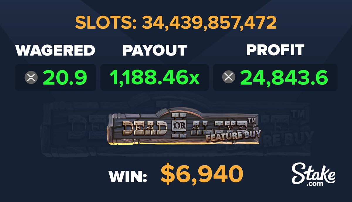 Dead or Alive has been doing wonders for you guys recently 💪🤑  To win a $15 bonus 👇 1. Follow us on Instagram @stakecasino 2. Screenshot your follow in the replies to this tweet 3. Retweet this post  We'll announce one winner in 12 hours! Good luck! https://t.co/rAN3vpEKHL