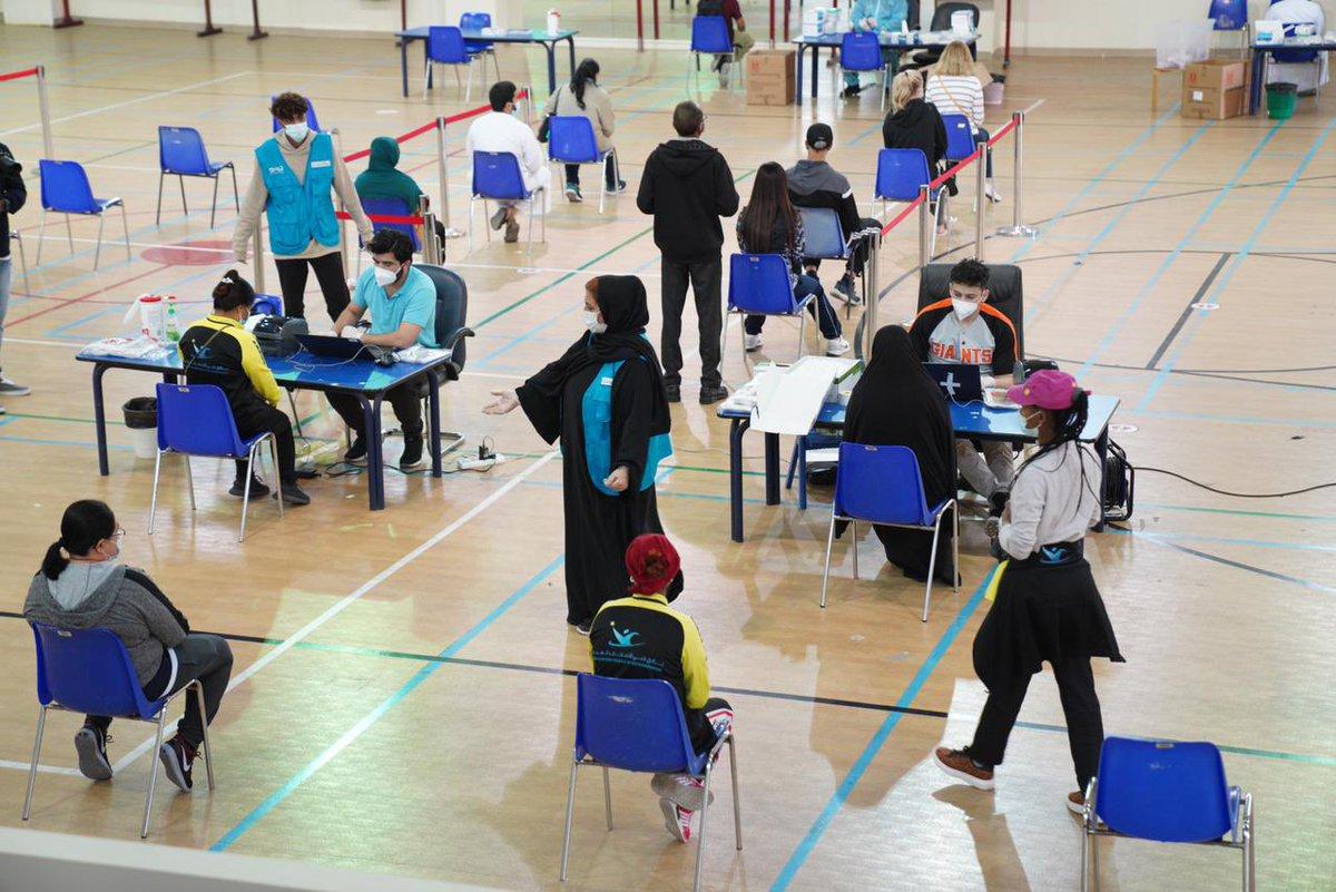 استمراراً من مؤسسة وطني الإمارات في دعم جهود المؤسسات والدوائر في #العمل_التطوعي لمواجهة انتشار فيروس #كورونا تشارك حملة #مدينتك_تناديك عبر متطوعيها بالتعاون مع منطقة دبي التعليمية، في تنظيم مراكز فحص #كوفيد19 للهيئات الإدارية والتعليمية والطلبة في جامعات وكليات ومدارس إمارة دبي