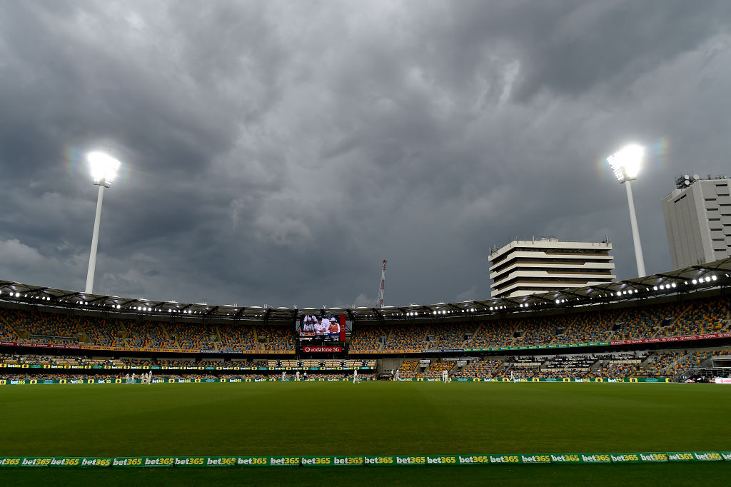 UPDATE - Due to persistent rain, play has been abandoned on Day 4.  #AUSvIND