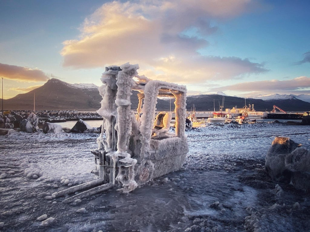 Frozen forklift after a snowstorm in #Iceland Climate change is a shared crisis - one that transcends politics and borders and must be fought collectively, justly and transparently. @Tiredearth @GretaThunberg #ClimateCrisis #ClimateStrikeOnline