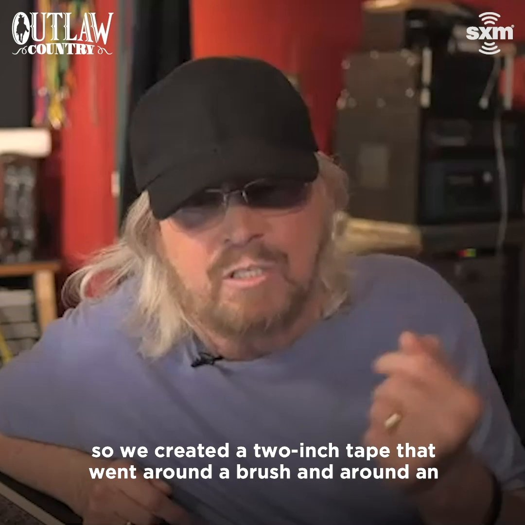 ".@GibbBarry explaining how the @BeeGees created that infamous drum loop for ""Stayin' Alive"" is mind-blowing. 🤯 Hear the full #Greenfields album release special on @SXMOutlaw:"