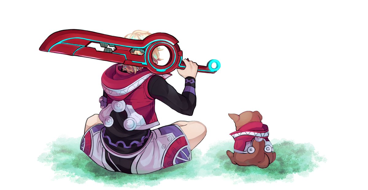 Xenoblade Chronicles Explained will be uploaded tomorrow!!! It's 22 minutes long and should go up around 4pm EST.  Here's some promo art of Shulk and the Kip dog kindly made by a friend of mine! (TrainerLeaf on Tumblr)