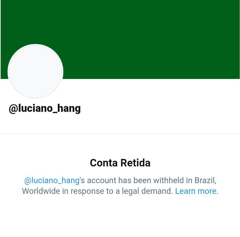 Replying to @mimfoi: A conta do Véio da Havan foi suspensa no Brasil 😮 😝