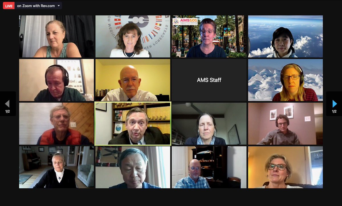 Thank you #AMS101 for the opportunity of a virtual chat after the award ceremony. But let's also meet next year in Houston!