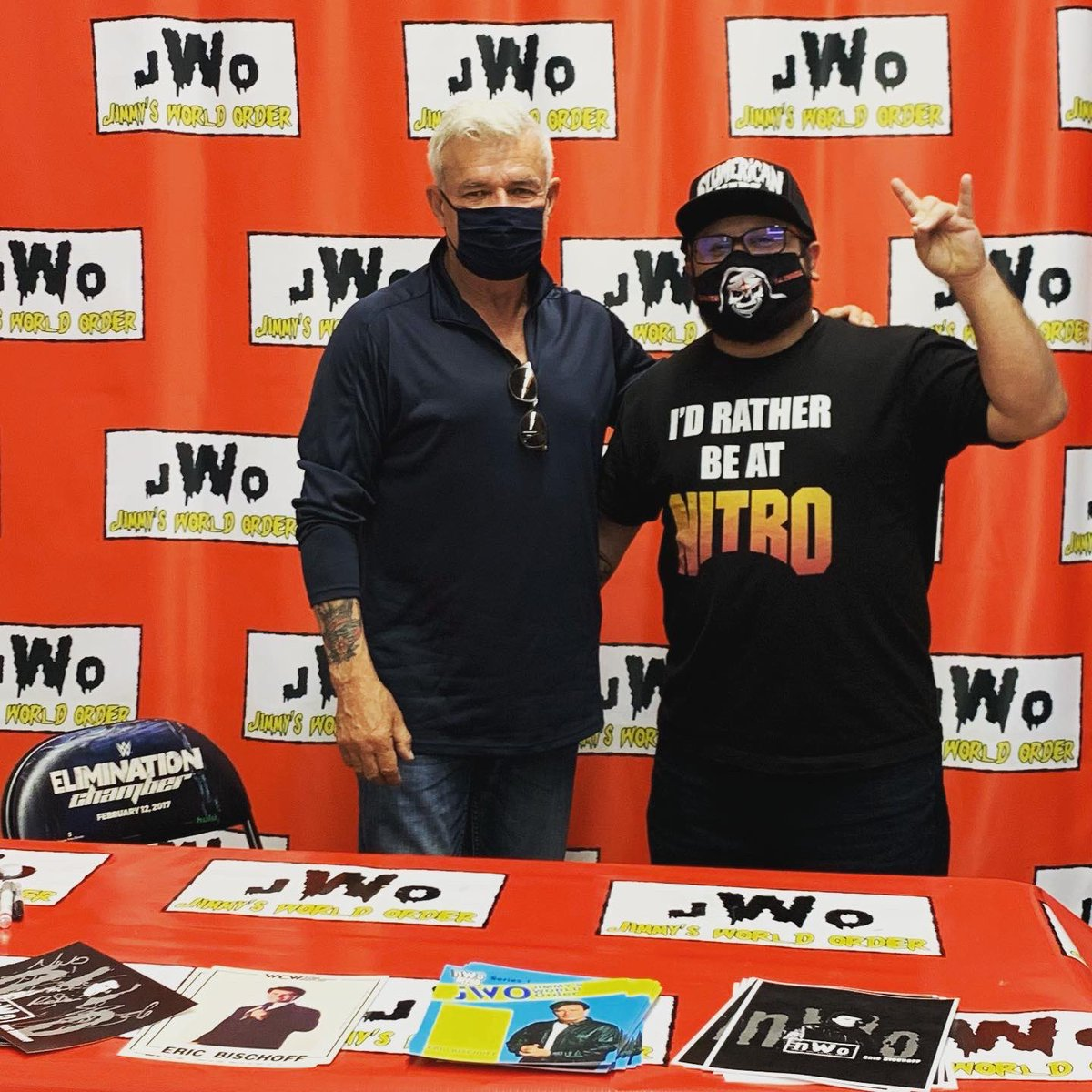 Met @EBischoff at @TherealjWo1 today!!! @83Weeks  #wcwnitro #mondaynightwars #ericbischoff #83weeks