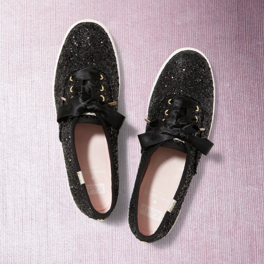 @katespadeny glamour meets Keds iconic style. #Kedsstyle  Shop this sparkly take on our signature sneaker at Keds stores, online at , or through the Keds Ph Viber community, and our personal shoppers will assist you! Join here: