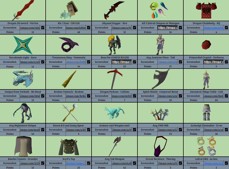 Mr Mammal - We've only just gone and won it! My very first Bingo event and I had a ton of fun. Solid effort from everyone on the team, we all got at least one tile!  I'll be uploading a bingo video in the next few days, be sure to look out for it :)