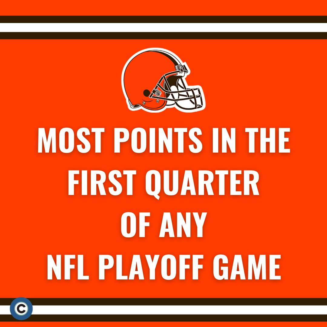 The Cleveland Browns scored 28 points in the first quarter tonight-- the most ever scored in the first quarter of an NFL Playoff game. #Browns