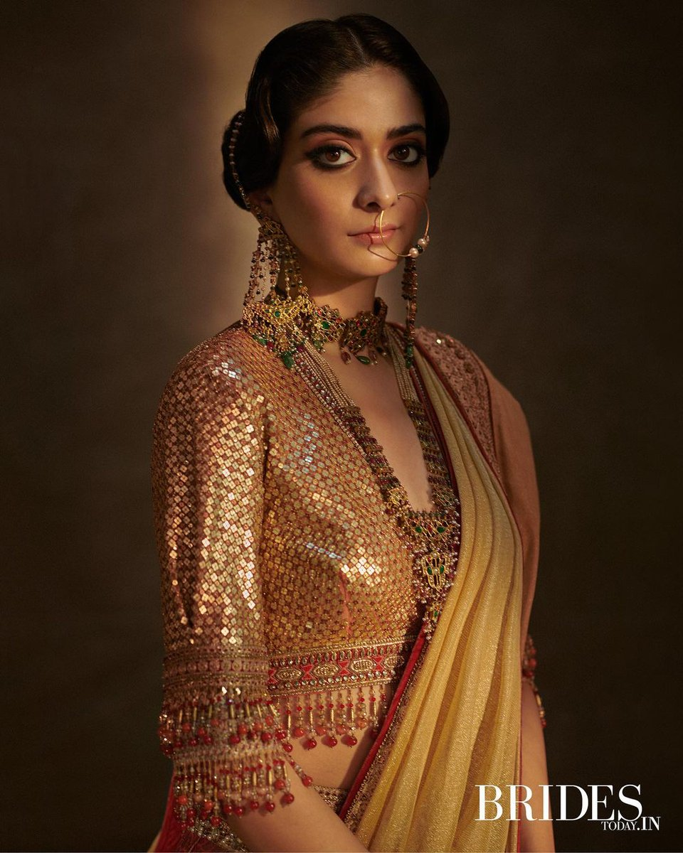 Star of 'A Suitable Boy', actor #TanyaManiktala plays the traditional bride in a special photo essay for @BridesToday_In. Take a look at the stunning pictures. #ITPhotoblog