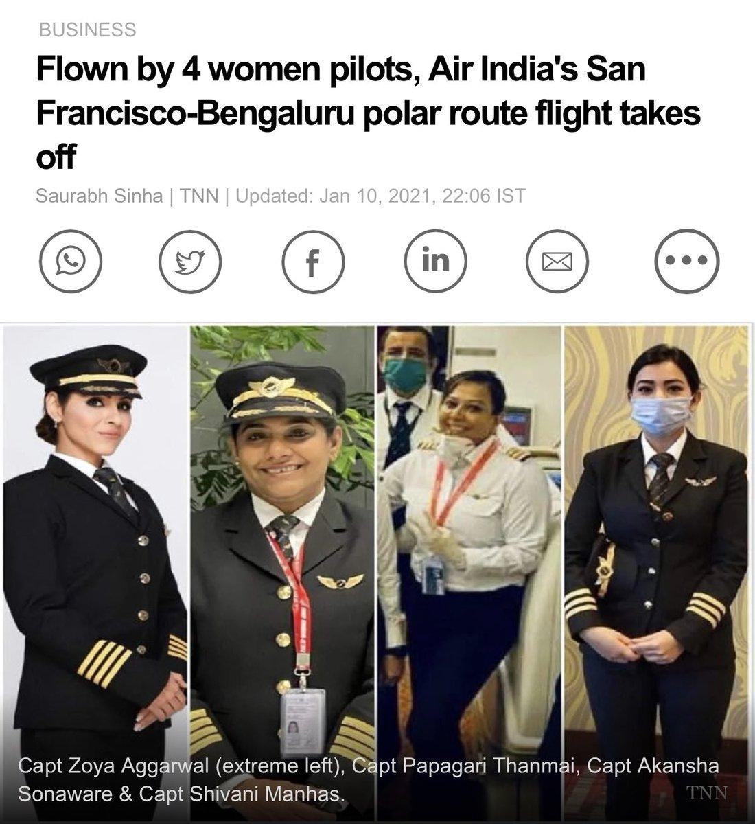 Jug Jug Jeen Dhiyan 🙏🏽  Captain Zoya Aggarwal, Capt Papagari Thanmai, Capt Akansha Sonaware & Capt Shivani Manhas 😊👏🏽👏🏽  Sanu Sareyan Nu Tuadey te Maan Hai ✊🏽