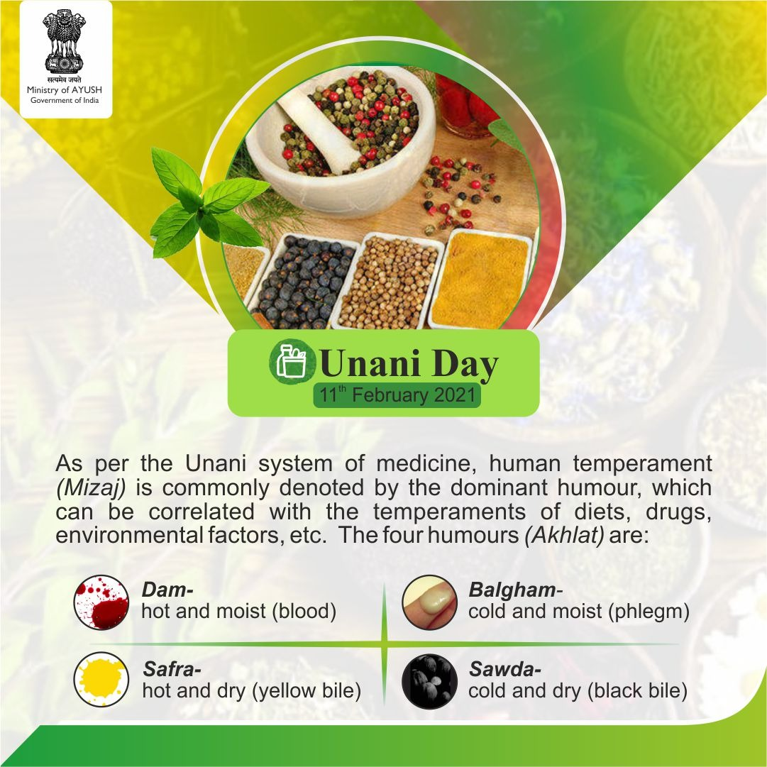 The most important principle of Unani medicine is temperament (Mizaj) which classifies human beings, diets, drugs, etc. into four qualitative types.   This facilitates the identification of proper diet and medication for