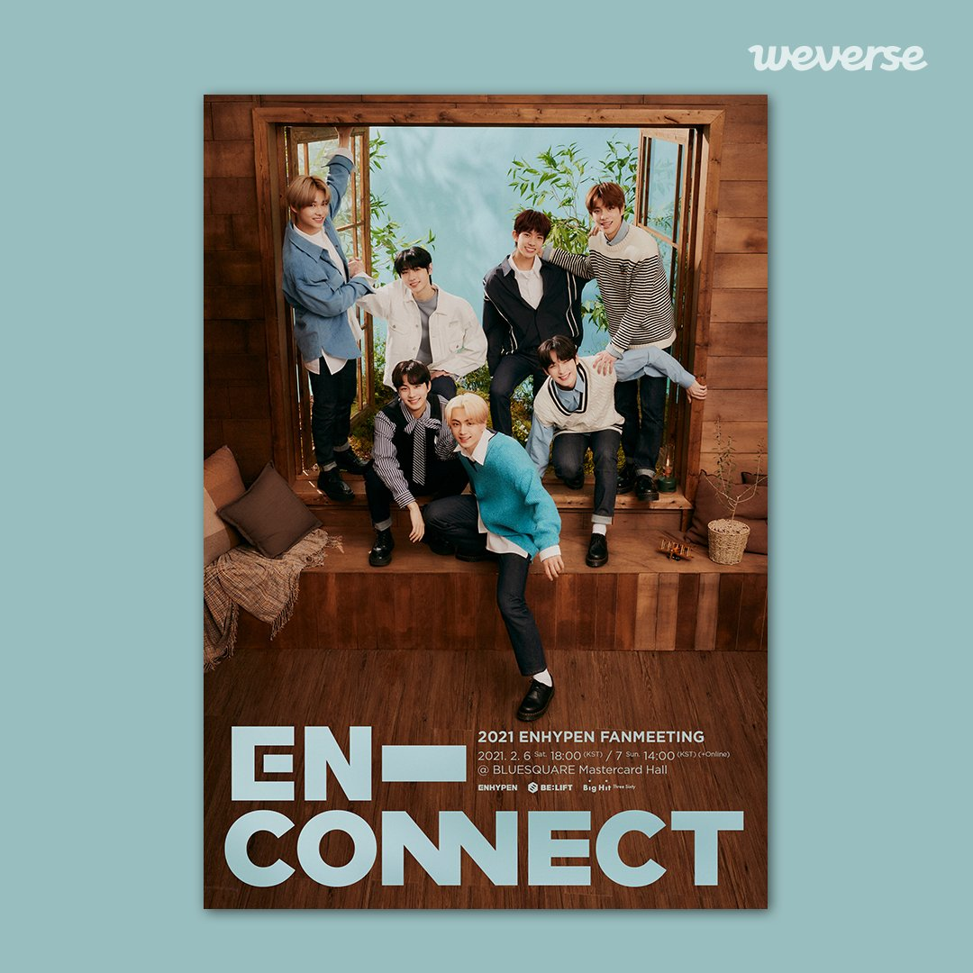 2021 ENHYPEN FANMEETING <EN-CONNECT> Online/In-person Performance🎉  Join #ENHYPEN's first-ever fan meeting with ENGENE. Find out more from the announcement posted on Weverse.  FInd out more👉  #EN_CONNECT