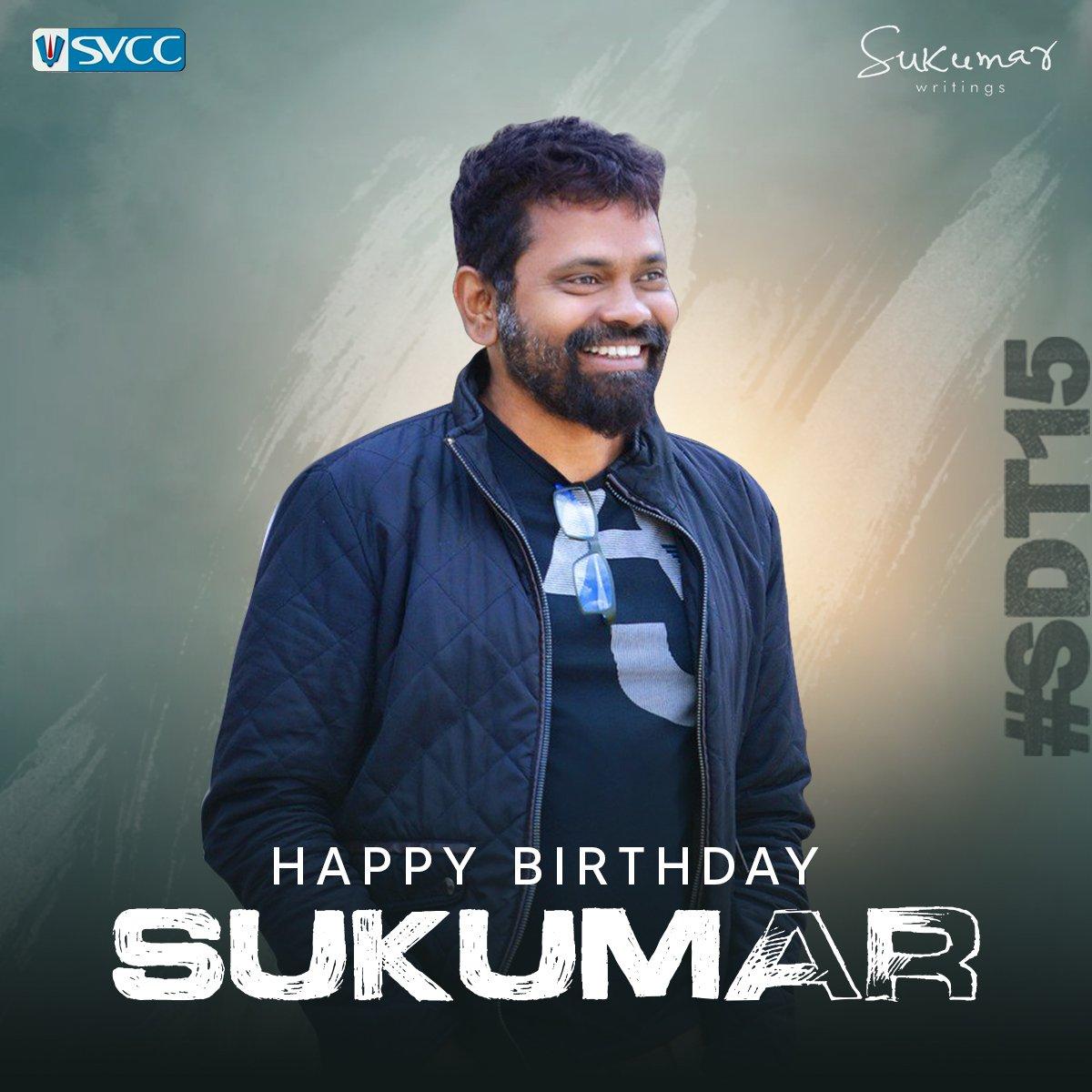 Wishing our Very Own Creative Director @aryasukku garu a very Happy Birthday 🤗. Keep inspiring us like always you do! #HBDSukumar  #Sukumar #SDT15 @SukumarWritings