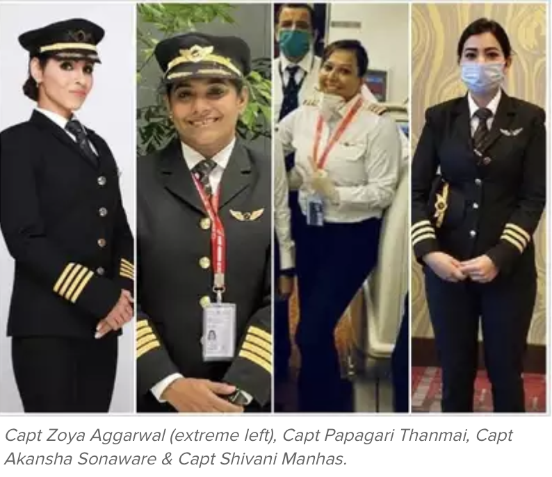 Congratulations to the all-women cockpit crew for completing Air India's longest flight from San Francisco to Bengaluru over the North Pole.  You have made the country proud.