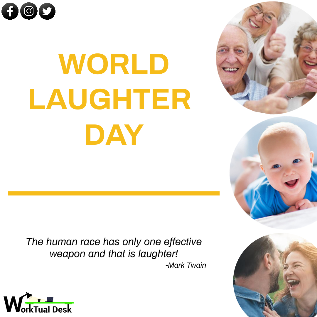 A day without laughter is a day wasted😀 . . #worktualdesk #creativity #worldlaughterday #graphics #design #designersofinstagram #instagram #mondayvibes #mondaymotivation #keepsmiling #smile