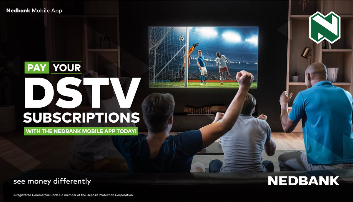 DSTV Subscription made easy!  1.Login on Nedbank mobile app or via USSD code *299#  Bill & Utilities options   DSTV   your Nostro account as the source 5.Confirm payment #BankFromHome #StaySafe