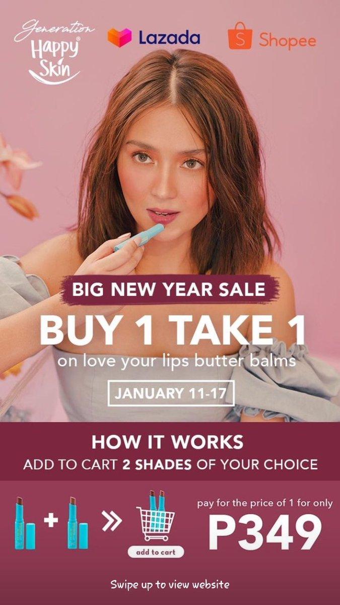 Buy one take one. Kath x Happy skin #KathrynNasaLazadaYan @bernardokath
