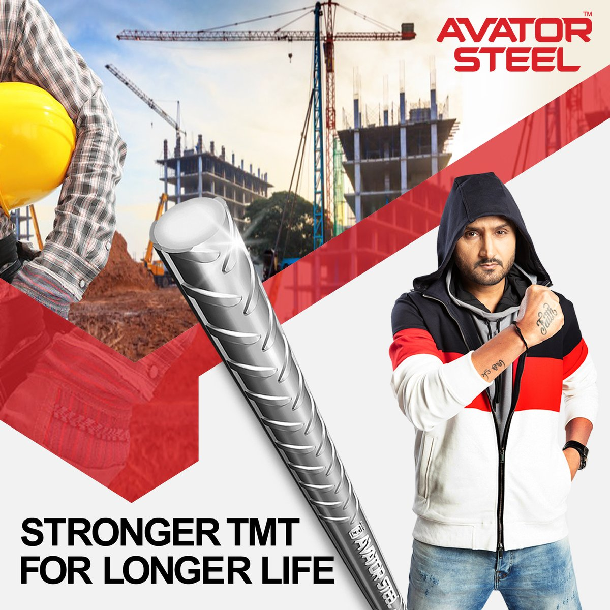When you build your dream home once, then why compromise with the quality.   Choose the best quality TMT bars like #AvatorSteel TMT bars to give the ultimate protection to your home.   #HarbhajanSingh #RustProof #EarthquakeProof  @harbhajan_singh