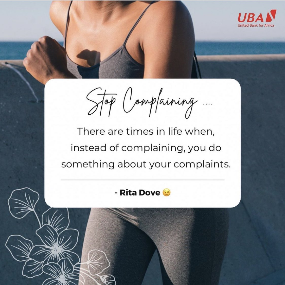 In 2021, Less complaints, More action 👍. Who wants to take up this challenge for the year 2021?!   #UBANuggets #AfricasGlobalBank #UBACares