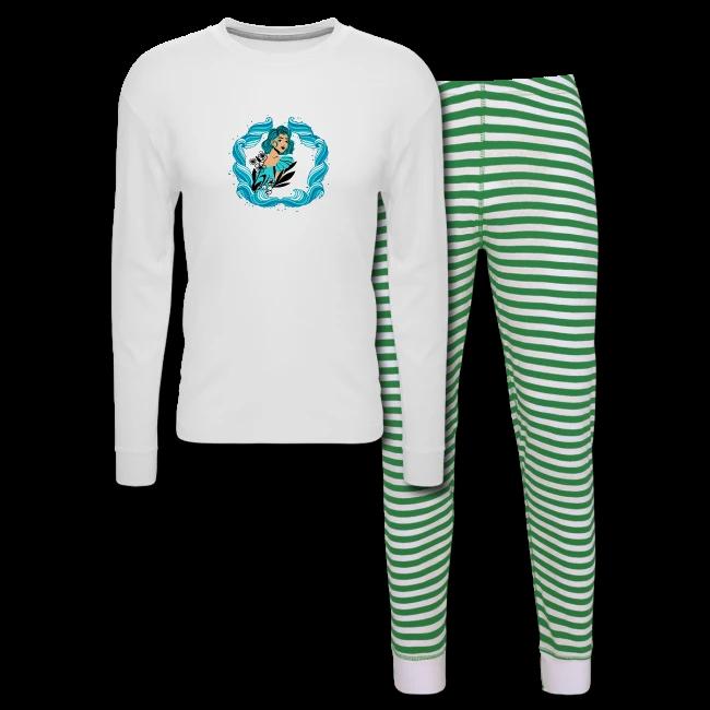 Pretty Sea Frame Girl - Unisex Pajama Set | A Buddy Merch    #abuddy #artist #artistsontwitter #artistontwitter #art #design #designer #fashion #clothing #shirt #shirts #sleep #goodnight #PajamaParty #pajama #pajamas #sea