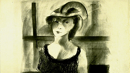 """Happy #NationalHatDay! This 1941 lithograph """"Feathered Hat"""" by Lester O. Shwartz was commissioned through the WPA Federal Art Project and is now part of the GSA Fine Arts Collection on loan to @ummamuseum.   ▶️ View more public works of at at"""