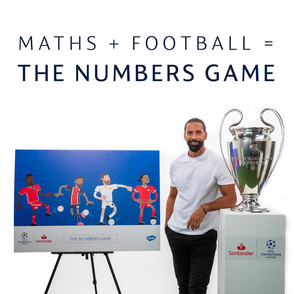 ⚽️Keep your pupils motivated when they practise maths with our Champions Challenge Cards, created as part of a collaboration between Twinkl,  UEFA Champions League partner @santanderuk and BT Sport pundit, @rioferdy5