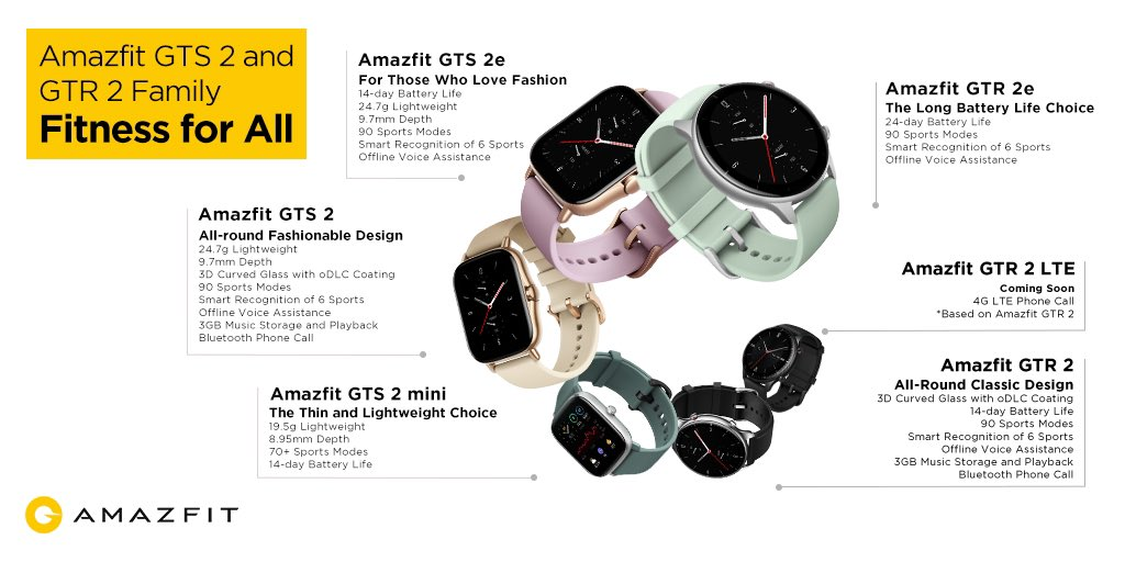 After debut at #CES2021 today, Amazfit GTR 2e and GTS 2e  to launch next week in india 🇮🇳 @AmazfitIndia
