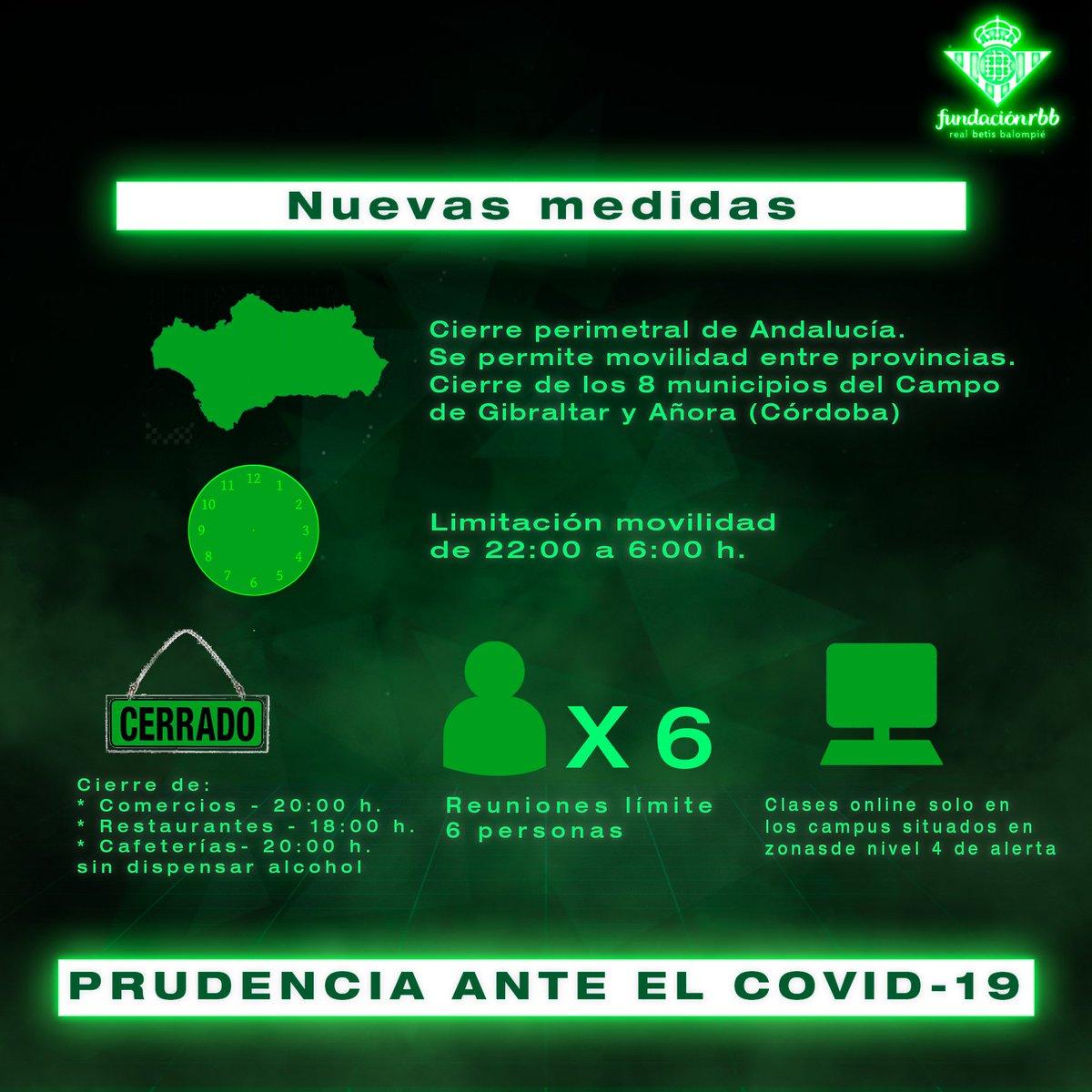¡Tenemos que seguir poniendo todos de nuestra parte para acabar con el COVID-19! 😷❌🦠  Conoce aquí todas las medidas que han entrado hoy en vigor en Andalucía hasta el próximo 25 de enero 👀👇  ➡️