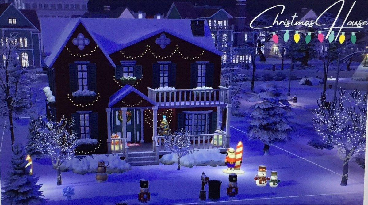 [ N'hésitez pas à aller regarder ma dernière vidéo, si ce n'est pas encore fait 🎬😊 ]  👉🏻   🎄 #MerryChristmas #MerryXmas #TheSims #Sims4 #YouTube #Keewis #ChristmasHouse #HappyNewYear2021 🎄