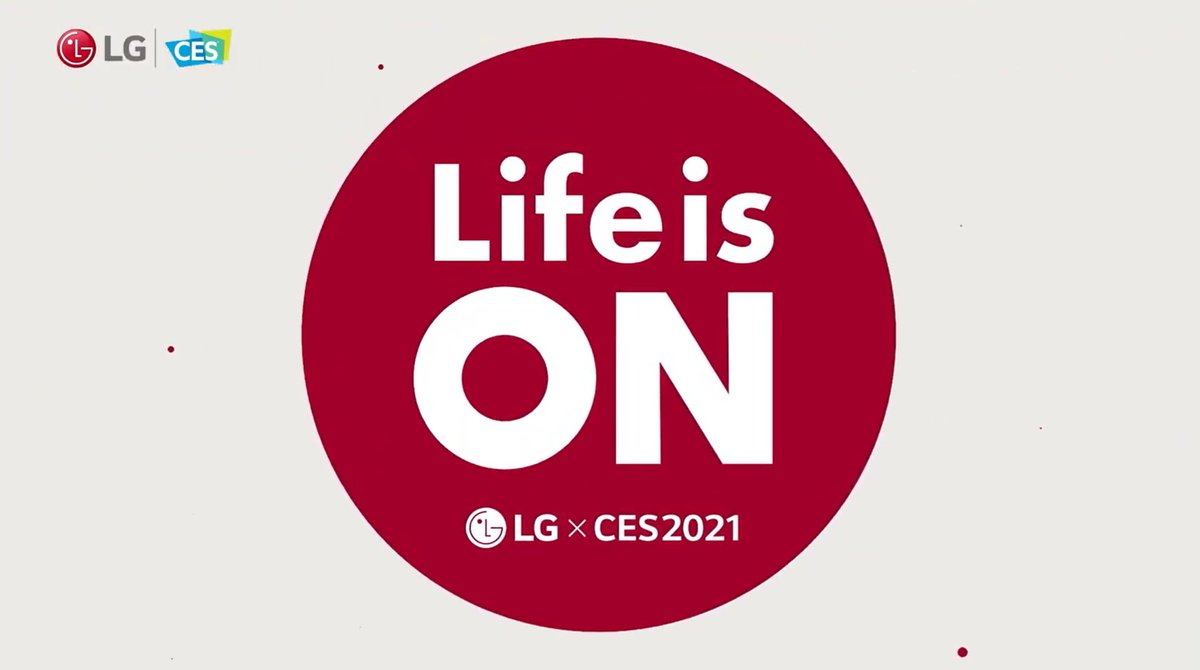 Life is on because Life is Good. Tune into the #LGCES2021 @CES press conference now:  #CES2021