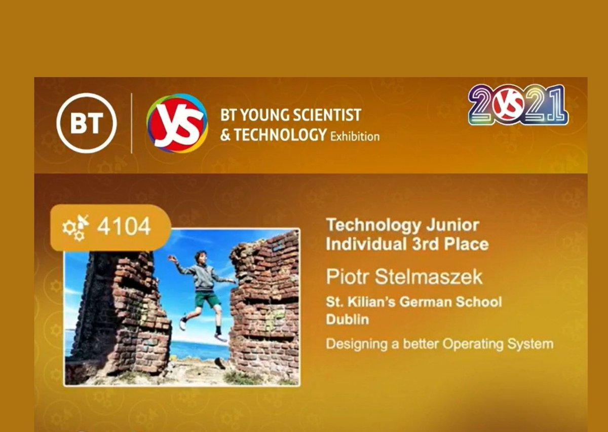 test Twitter Media - Congrats to 8th class student Piotr Stelmaszek who won 3rd individual prize / Jr Technology category @BTYSTE ! A big thank you goes to Piotr's teacher Frau Bosse who supported him with the project. A report about his experience is available on our website. https://t.co/mJG9VzpCF3 https://t.co/niH3PnY5a6